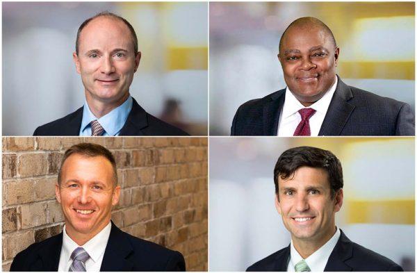 Headshot of Greg Carnathan, Jonathan Eveleth, Avery Monroe, and Don Zimmerman